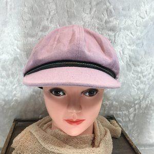 Vintage C.C Newsboy Cap 100% Linen Lovely Lilac
